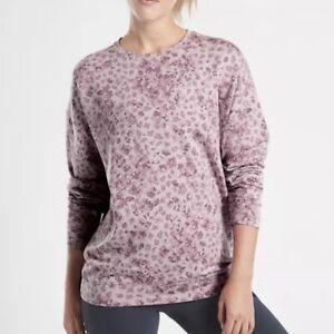 New Athleta Studio To Street Sweatshirt Small S Flora Mauve Heather Libra
