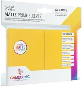 Matte Prime Card Sleeves: Yellow Standard GameGenic Asmodee NEW