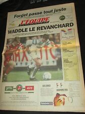 Journal L EQUIPE 1991 J-1 FINALE OM MARSEILLE ETOILE ROUGE  C1 COUPE D EUROPE