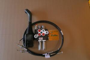Hydraulische  Gerätebetätigung Steuerventil P40 Frontlader Steuergerät EW DW 50l