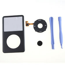 For iPod Classic 6th Gen Gray Housing Front Cover + Black Click Wheel + Tools