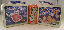 Cookin Cookies & Peanut Butter Jelly Tin Metal Lunch Snack Box Storage No Game