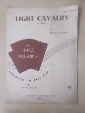VINTAGE SHEET MUSIC - LIGHT CAVALRY - FOR PIANO ACCORDION