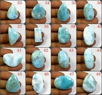 NATURAL CARIBBEAN SKY LARIMAR CABOCHON MIX SHAPE GEMSTONE FREE SHIPPING LM-A