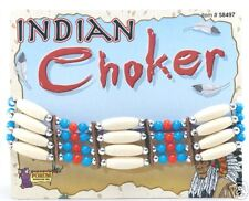 Adult Native Red Indian Choker Necklace Fancy Dress Pocahontas Costume Accessory