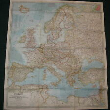 1957 EUROPE NATIONAL GEOGRAPHIC MAP