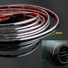 3M x 3MM Chrome Moulding Trim Strip for Grille Taillight Shift Knob Bumper MA356
