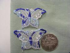 Butterfly Blue Organza Motifs Pkt 10 (P3)