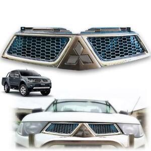 For 2009-2013 Mitsubishi Triton L200 MN Front Grille Titanium Chrome