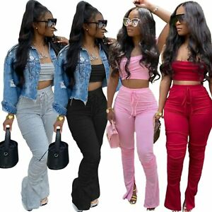 Cotton Blend Solid Plus Size Tracksuits Sets For Women For Sale Ebay
