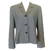 KAREN SCOTT Women's Sz 16 houndstooth Blazer Jacket Suit Coat