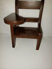 """Sturdy Wood School Desk for Doll or Teddy Bear - 10"""" high"""