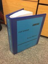 Fiat 124 Araña Fábrica Manual De Servicio Taller Spyder técnica de Instrucción