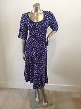 NEW blue print top & skirt set suzannegrae stretch fabric Fits Size 14-16