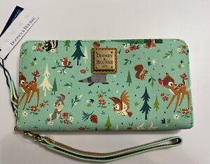 NWT! GENUINE Dooney & Bourke Disney Bambi and Friends Wristlet ACTUAL WALLET b5