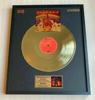 Ritchie Blackmore's Rainbow Rainbow Vinyl Gold Metallized Mounted Record