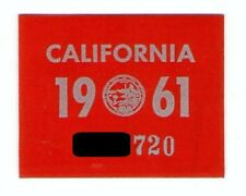1961 California Sticker, Slightly Trimmed, Authentic