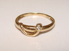 Diamantring elegant  Größe 56  14 Karat  585 Echtgold  Ring Diamant  0,015ct