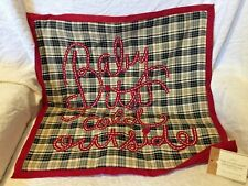 """pottery barn kids Baby It's Cold Outside Christmas pillow cover 18"""" black red"""