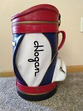Vintage Ben Hogan Tour Mini Range Driving Golf Tour Bag Red White Blue Good Cond