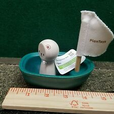 Plan Toys Sailing Boat with Polar Bear eco-friendly, sustainable, renewable,