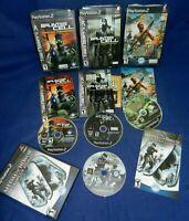 PS2;Medal of Honor Rising Sun & European Assault,Splinter Cell Pandora & Stealth