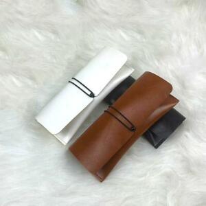 Soft Leather Glasses Case Convenient Travel Lace-up Sunglasses Box V7U9