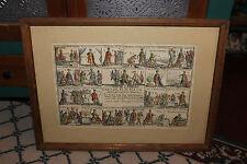 Antique Giuseppe Mitelli Color Engraving Print-Gioco Del Re Di Persia-#1-Tarot?