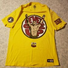 "WWE John Cena T-Shirt ""Never Give Up"" Hustle Loyalty Respect WW Authentic Men L"
