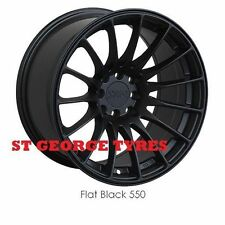 "4 X 15"" GENUINE XXR 550 FLAT BLACK WHEELS OFFICAL RIMS ORIGNAL XXR CONCAVE"