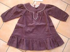 (208) Festliches CACHAREL Baby langarm Fein Kord Kleid A-Form geschnitten gr.86
