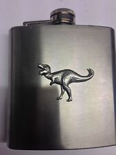 Tyranosaurus Rex PP-G16 English Pewter 6oz Stainless Steel Hip Flask