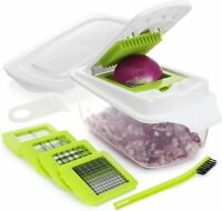 Vegetable Chopper Food Onion Cutter Veggie Slicer Dicer Fruit Hand Kitchen Green