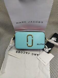 Genuine Marc Jacobs Snapshot Small Camera Crossbody ice blue/ playboy strap sale