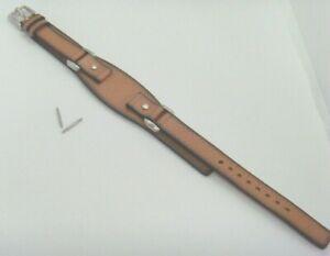 Fossil Recambio Original Pulsera de Cuero JR8897 Correa Reloj Braun 12 MM Marrón