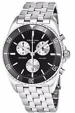 Certina Men's DS First Black Dial Stainless Steel Quartz Watch C0144171105101