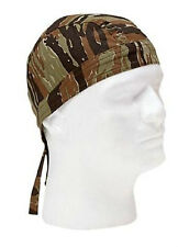 Tiger Stripe Camo Cotton Biker Motorcycle Headwrap Bandana Do Rag Rothco 5157