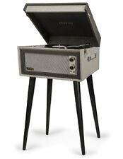 Crosley BERMUDA 2 Speed Portable Turntable with Built In Speakers + Stand BLACK