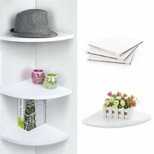 Wall Mounted 3 Tiers Decorative Shelf Floating Corner Storage Organizer Shelves