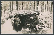Foto Ostfront Schlacht Przasnysz Feldtopograph Köhlitz Hund Unterstand Wald 1915