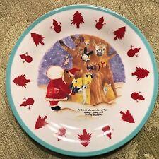 "Shinzi Katoh Design by Kisshoh ""Rabbit House"" Decorative Christmas Plate 6 1/2"""