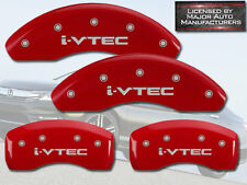 2006-2015 Honda Civic EX Si Front + Rear Red MGP Brake Disc Caliper Cover i-VTEC