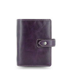 Filofax Pocket Size Malden Organiser Planner Diary Purple Leather - 025849