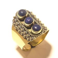 LApis Lazuli Tibetan Silver Brass Handmade Gemstone Ring Jewelry