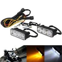 2Pcs 3 LED White High Power Car DRL Daytime Running Light Fog Lamp Universal 12V