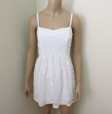 NWT Abercrombie Womens Floral Lace Dress Size Medium White