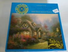 Thomas Kinkade Candlelight Cottage 1000 Jigsaw Glow In The Dark Complete Ceaco