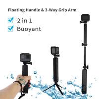 TELESIN Waterproof 3-Way Selfie Stick Floating Hand Grip + Tripod for GoPro 7 6