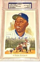 HANK AARON Milwuakee Atlanta Braves PSA Perez Steele auto autograph baseball HOF