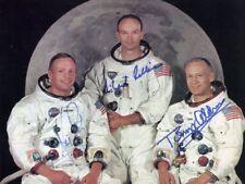 NEIL ARMSTRONG / BUZZ ALDRIN / MICHAEL COLLINS Signed Photo Apollo XI reprint